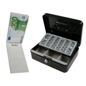 Geldkist + Notitieblok geld 3 stuks