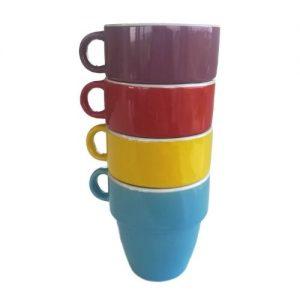 Koffiekopjes gekleurd 4 stuks