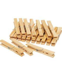 Wasknijpers hout 60 stuks