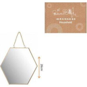 Orange85 Spiegel hexagon goud