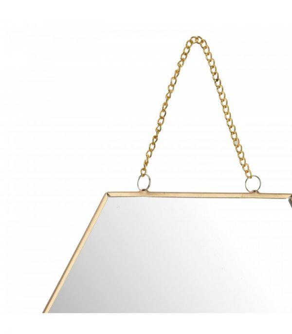 Spiegel hexagon goud