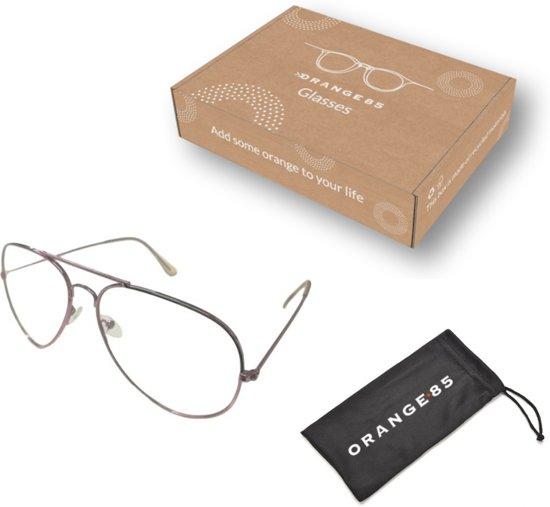 Orange85 Pilotenbril zonder sterkte - roze