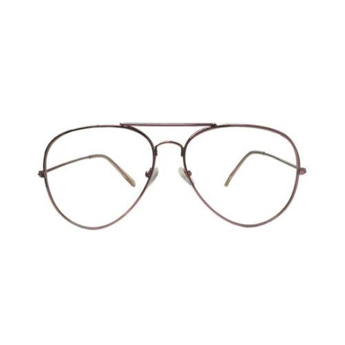 Pilotenbril zonder sterkte - roze