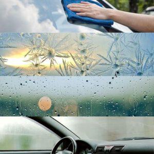 Condens op ruiten en spiegels auto