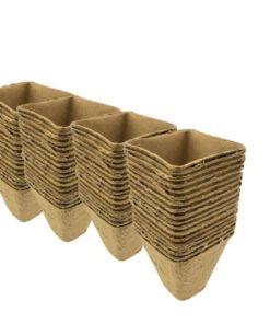 Kinzo Afbreekbare Fibre Bloempotten 36 stuks