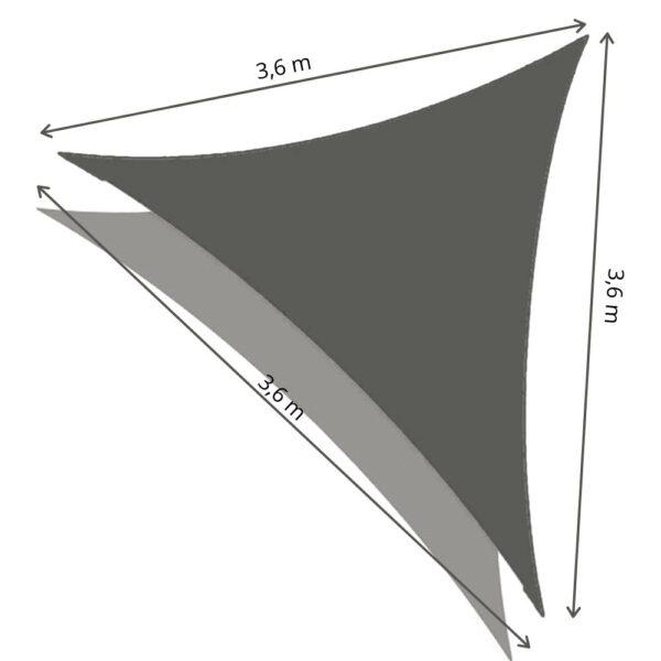 Schaduwdoek driehoek afmetingen