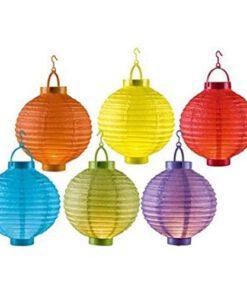 gekleurde lampionnen
