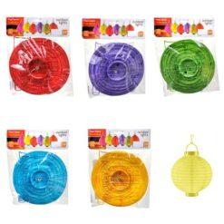 gekleurde lampionnen in verpakking