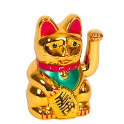 Orange85 Decoratie Zwaaiende Kat Goud 16 cm