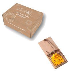 Orange85 Muizenval Hout met Kunst kaas extra + doos