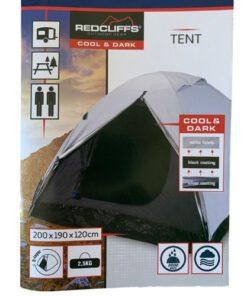 kampeertent donker en koel beschrijving
