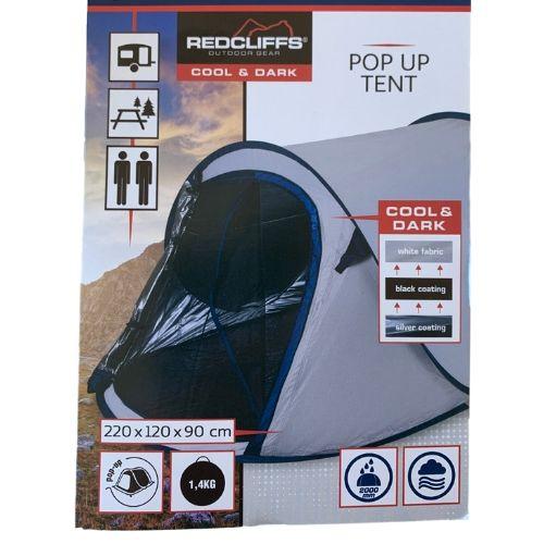 pop up tent donker en koel beschrijving