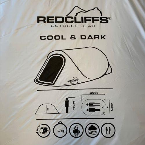 pop up tent donker en koel tas