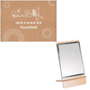 spiegel met hout en doos