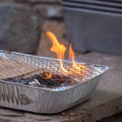 detailfoto Wegwerp Barbecue
