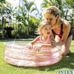 Intex Baby zwembad roze glitter 86 x 25 cm sfeer