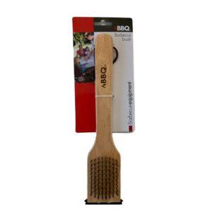 Orange85 Barbecue schoonmaak borstel hout met schraper