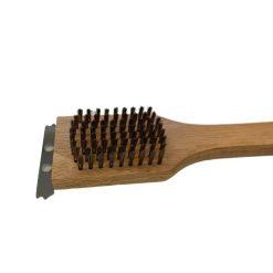 Orange85 Barbecue schoonmaak borstel hout met schraper zijkant (1)