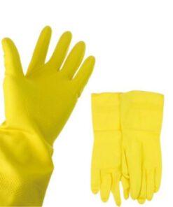 Orange85 Huishoudhandschoenen rubber maat small 2 paar dubbel