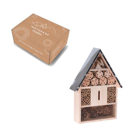Orange85 Insectenhotel hout met metalen dak verpakking