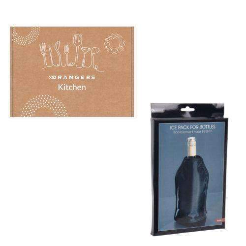 Orange85 Koelelement fles wijn en drank zwart verpakking
