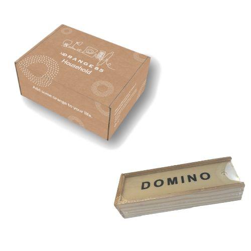 Orange85 Mini Dominostenen Reisset met Houten Doosje + doos