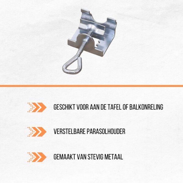 voordelen van parasolhouder metaal