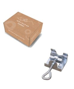 parasolhouder metaal in verpakking