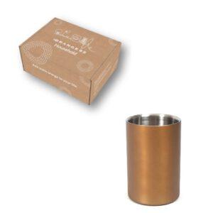 Orange85 Wijnkoeler Koperkleurig RVS 18 cm + doos