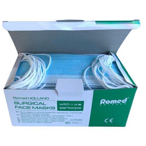 Romed Mondmaskers 50 stuks Papier 3-Laags met elastiekjes 1