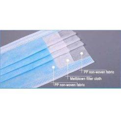 Romed Mondmaskers 50 stuks Papier 3-Laags met elastiekjes 4