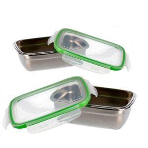 Orange85 Lunchbox set Groen 850 en 550 ml RVS
