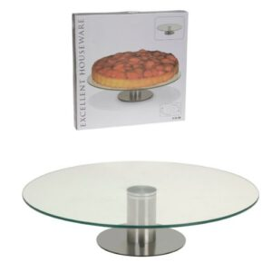 Excellent Houseware Glazen taartplateau (1)
