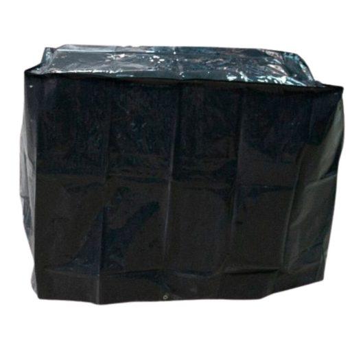 Barbecue beschermhoes Zwart 90 x 50 cm vooraanzicht