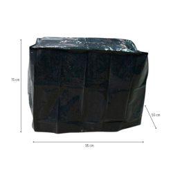 Barbecue beschermhoes Zwart 90 x 50 cm afmetingen