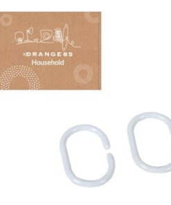Orange85 Gordijn Ring Douche Wit 12 stuks