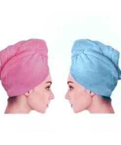 Orange85 Haarhanddoek Roze en Blauw