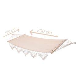 Orange85 Hangmat Beige 200 x 100 cm Katoen afmetingen