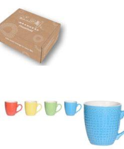 Orange85 Koffiebeker gekleurd 240ml 4 stuks (1)