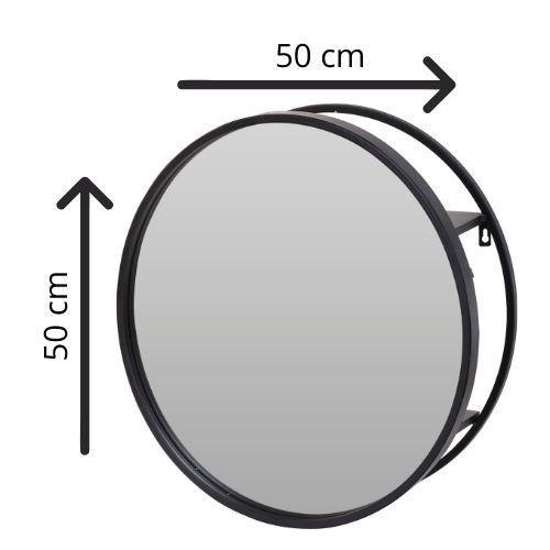 Orange85 Spiegel Rond Metaal Zwart 50 cm 2