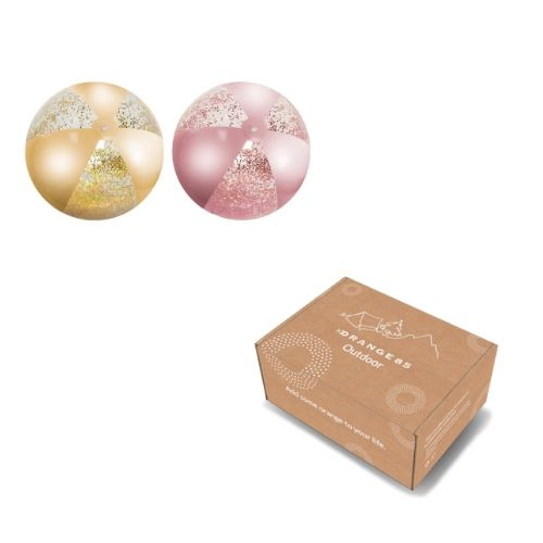 Orange85 Strandbal Glitter Goud en Roze 500x 3