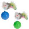 Orange85 Katten speelgoed Bal met Muis 2 stuks