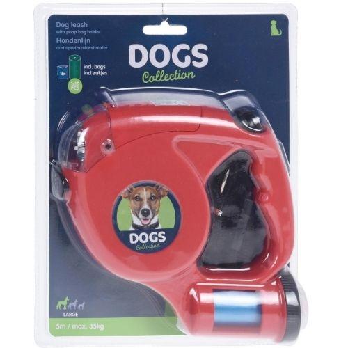 Orange85 Hondenriem met verlichting en poepzakjes