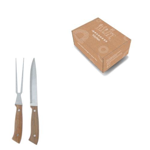 Excellent Houseware Trancheerset Vleesvork en Vleesmes