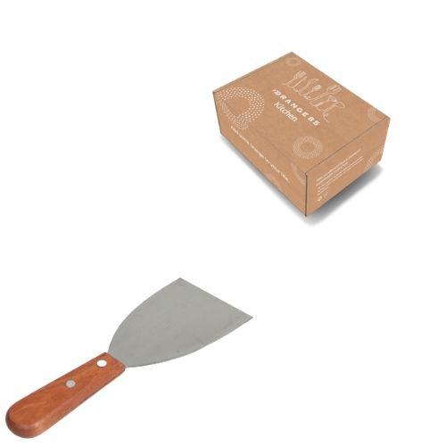 Orange85 Bakspatel RVS met houten handvat