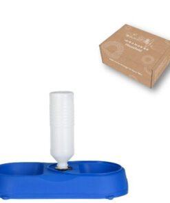 Orange85 Dieren voer- en drinkbak Kunststof blauw