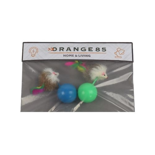 Orange85 Kattenspeelgoed Bal met Muis 2 stuks 3_verpakking