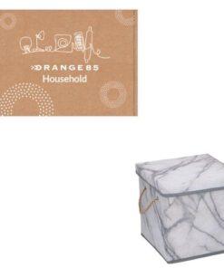 Orange85 Opbergdoos Opbergbox Opbergmand Marmer 23x23x23cm (3)