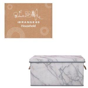 Orange85 Opbergdoos Opbergbox Opbergmand Marmer 40,5 x 30 x 21,5 cm (1)