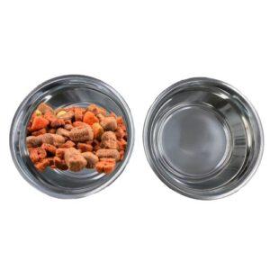 Orange85 Voerbak hond RVS 2 stuks zilver